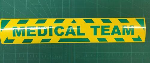 Riflettente Hi Viz Medical TEAM Adesivo magnetica segno Chevrons primo soccorso
