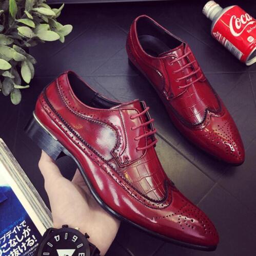 Herren Schuhe Schnürschuhe Fashion Elegant Budapester Stil Brogue Businessschuhe