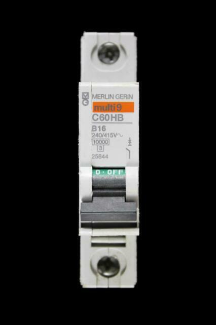 Merlin GERIN Multi 9 C60hb 63 Amp B63 Single Pole C60HB163 MCB for sale online