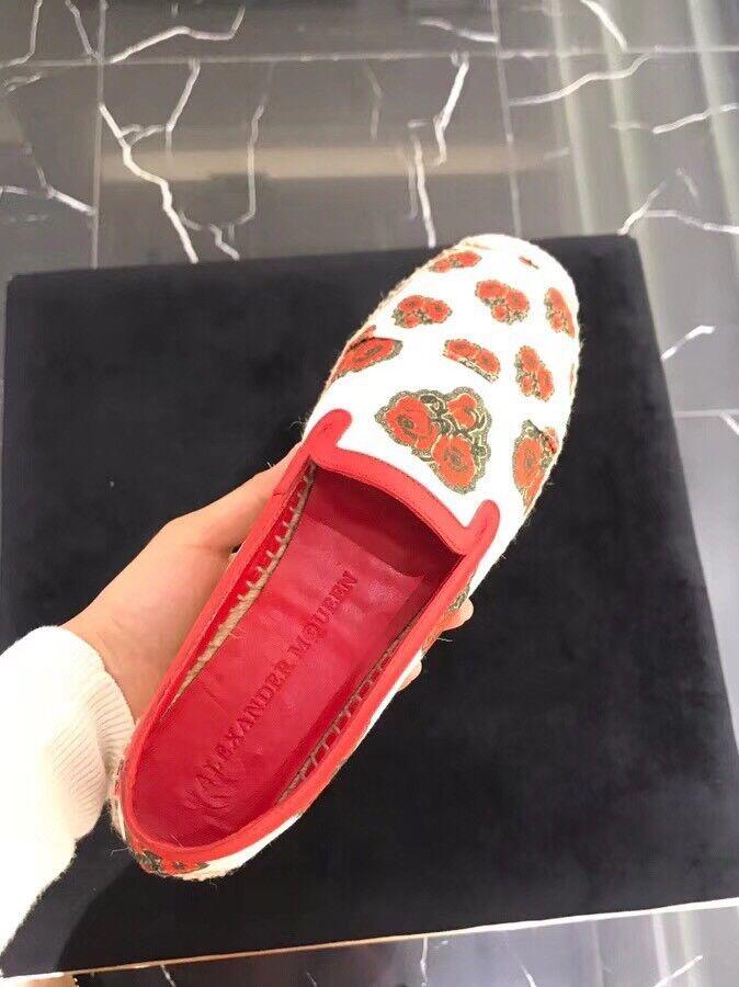 NUOVO 100% Autentico Alexandra McQueen Poppy Stampa Espadrillas PLATEAU UK: 5