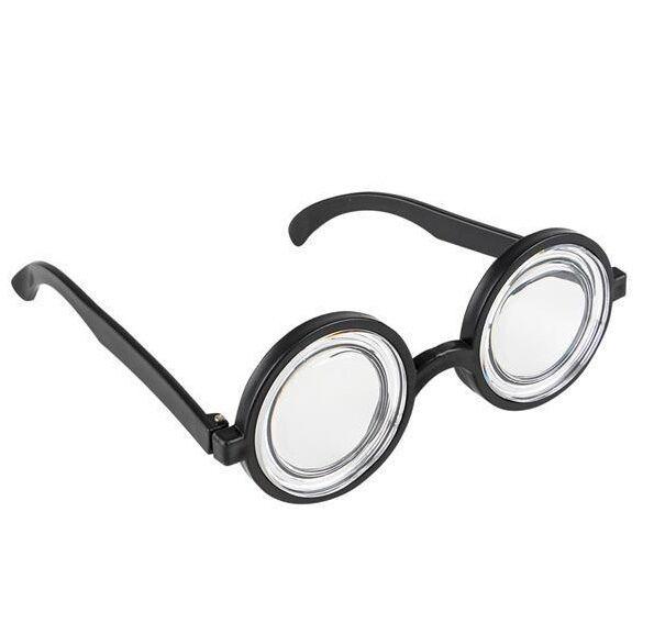 01fca45fbb Funny Nerd Geek Glasses Dork Thick Lenses Costume Joke Gag Toy Black Plastic  for sale online