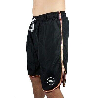 Lab84 Pantaloncini Costume Shorts Mare Sport S8 Shm1002combo Nero