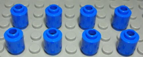 1812 Lego Stein rund 1x1 Blau 8 Stück