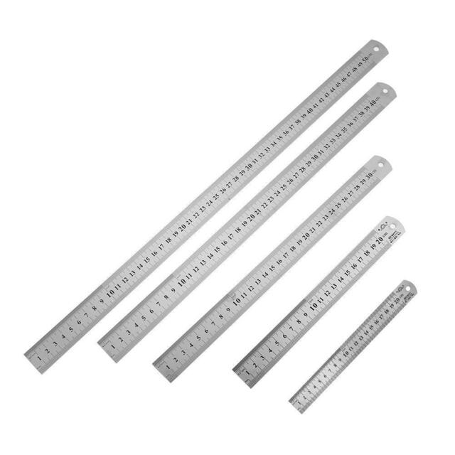 30cm Stainless Metal Ruler Metric Rule Precision Double Sided Measuring Too XG