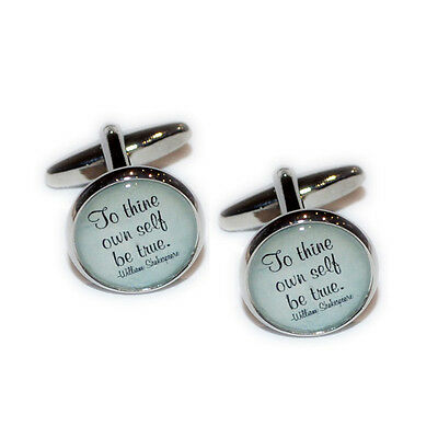 WHEN I SAW YOU I FELL IN LOVE Shakespeare Christmas Birthday Present CUFFLINKS