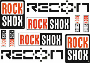 Rock Shox RECON front fork Road mtb bycicle cycling Decal//stickers Free shipping