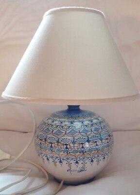 Lampade In Ceramica Di Vietri.Lampada Da Tavolo Ceramica Vietri Maestro Giovanni Mosca Ebay
