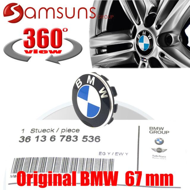 Original BMW Alloy Rims Hub Lid Wheel Trim Panel with Emblem 67 MM