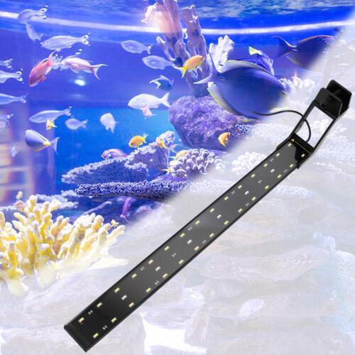 23-73cm Aquarium LED Lighting Fish Tank Clip On Light Lamp Flexible Arm Clip NEW