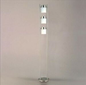 Chrome floor lamp 3 adjustable lights fixture modern for Ore 3 light adjustable floor lamp