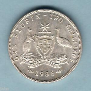 Australia-1936-Florin-UNC