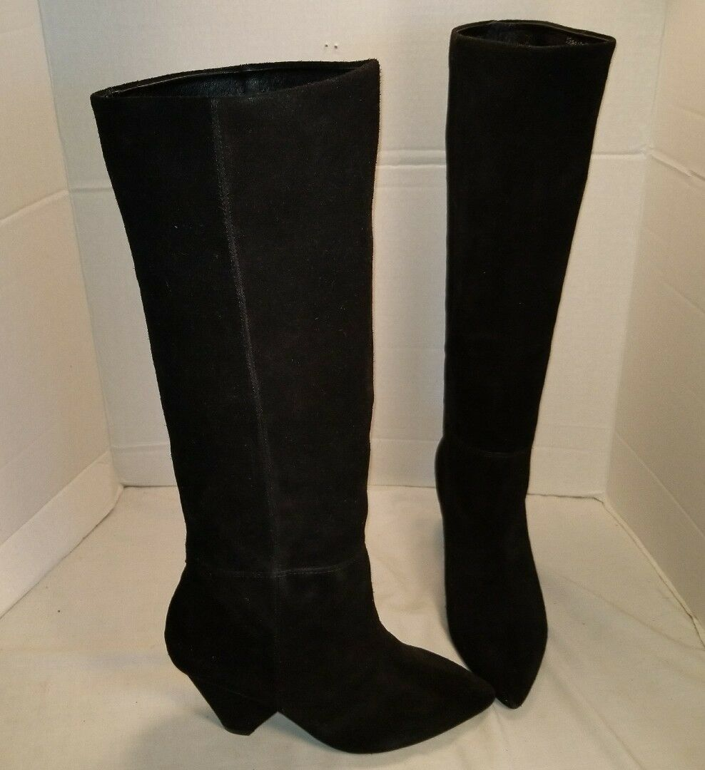 NEW JEFFREY CAMPBELL SENITA MODERN BLACK SUEDE SUEDE SUEDE SLOUCH BOOTS US 7 MSRP  248.00 fa6844