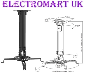 Universal Projector Ceiling Mount Extendable Bracket Up To