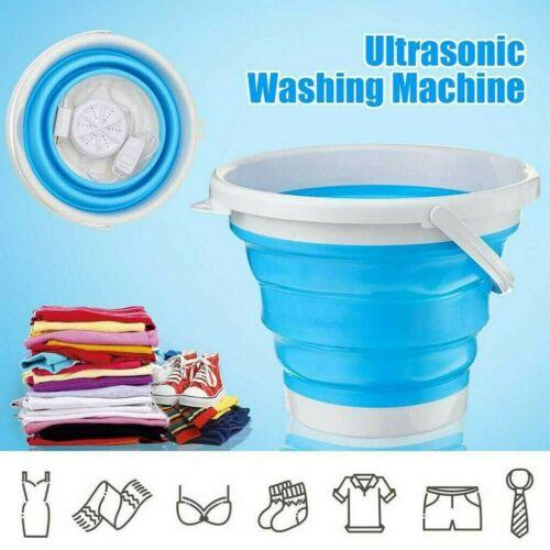 Miniwaschmaschine Ultraschall Klappwaschmaschine Tragbar Schleuder Waschmaschine