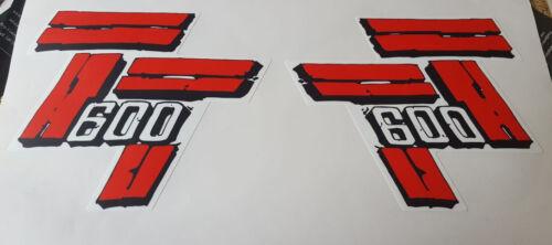 Adesivi serbatoio Yamaha TT 600 desert acerbis adesivo stickers decals 59x 36a