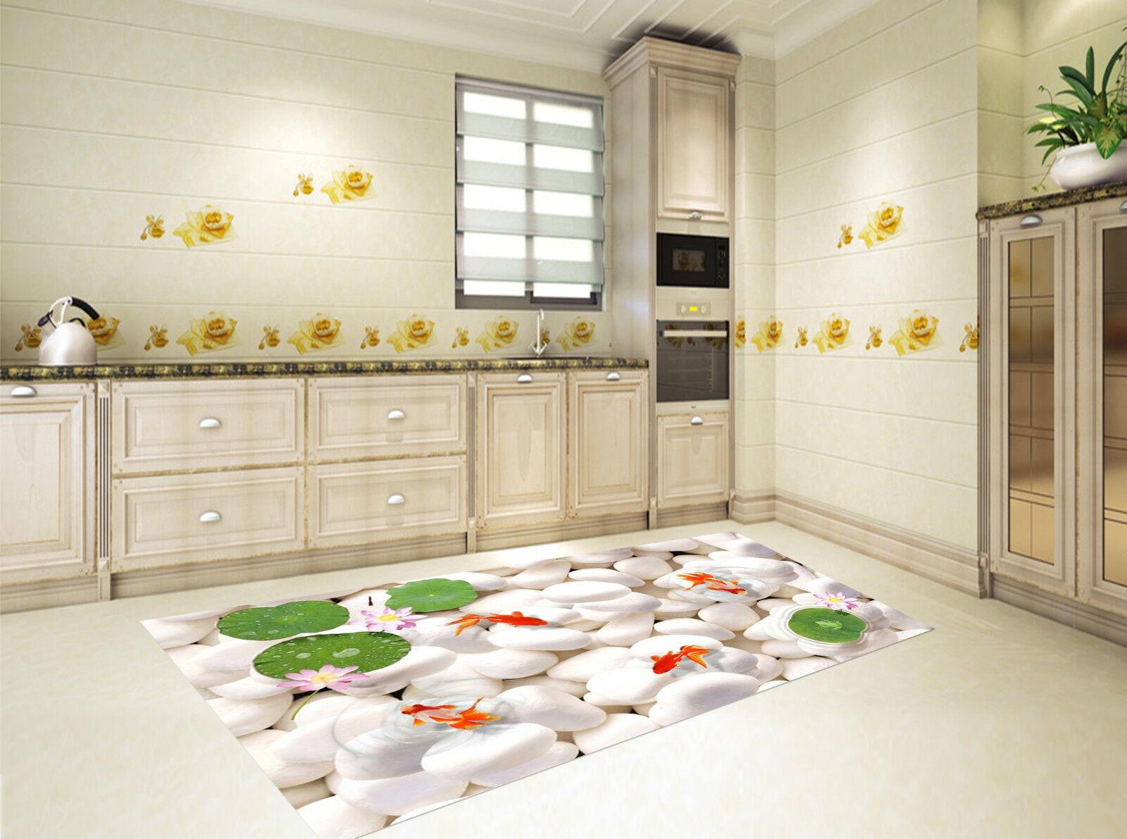 3D Cobblestone Poisson 123 Décor Décor Décor Mural Murale De Mur De Cuisine AJ WALLPAPER FR 269c80