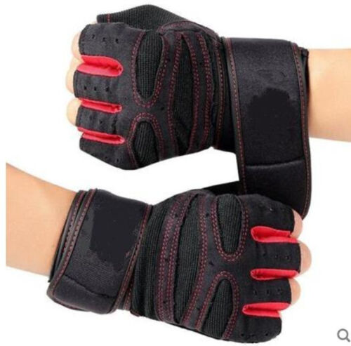 Sports Exercise Training Fitness Workout Gloves Weight Lifting Gym Wrist Wrap US