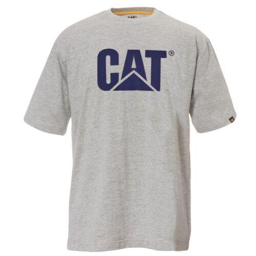 CAT Caterpillar Trademark Logo T-Shirt Durevole Lavoro Maglietta da Uomo