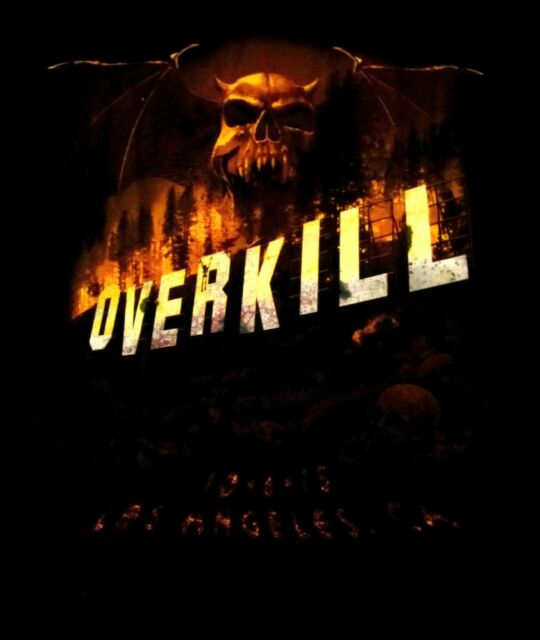 OVERKILL cd lgo LOS ANGELES 2015 Official TOUR SHIRT MED New OOP