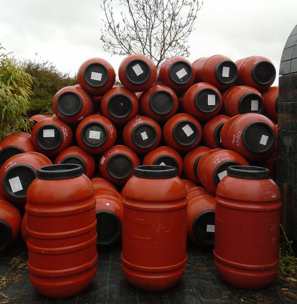 1 x Waterbutt. Recycled olive barrel. 220 litres. COLLECTION ONLY