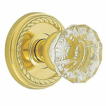 Emtek Crystal Clear Astoria Knob Door Set