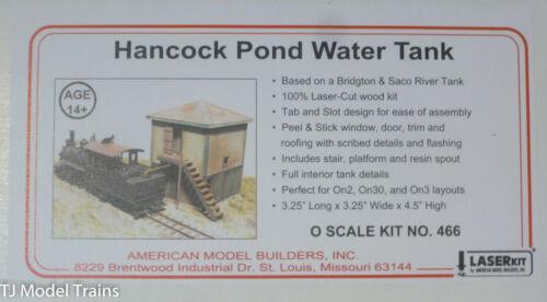 American Model Builders #466 Hancock Pond Water Tank Kit Laser-Cut Wood Kit
