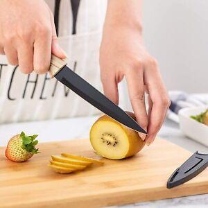 Rae Dunn White Knife & Bamboo Cutting Board Set CHOP BON APPETIT NWT