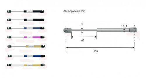 Gasdruckdämpfer Gasdruckfeder Gasfeder Heckklappendämpfer 154mm 150N lila 8266