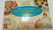 Vintage Wilton Cake Decoration Kit / Kits Metal Plastic Tips Cloth Plastic bags