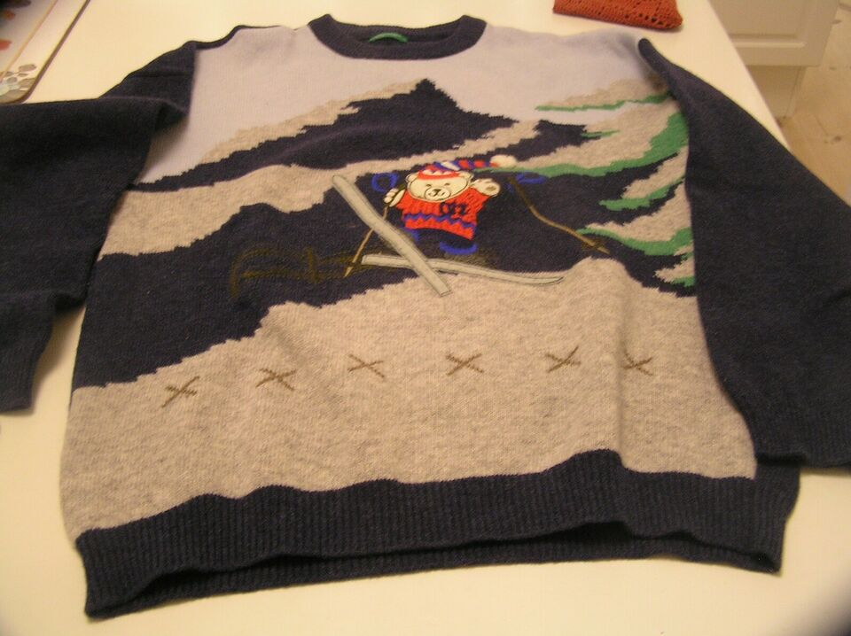 Skitøj, Uld sweater, Benetton