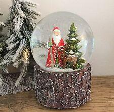 Woodland Babbo Natale palla di neve Gisela Graham MUSICALI VINTAGE Natale Padre