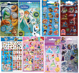 Paw Patrol Pink Children/'s Character Fun Stickers 6 Sheets Party Pack Loot Bag