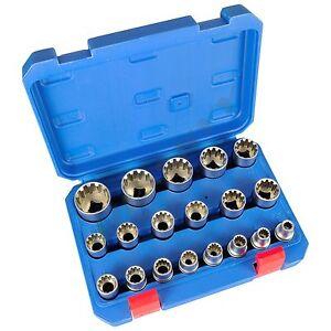 Steckschluessel-Satz-1-2-Zoll-Werkzeug-Set-19-tlg-8-32-Vielzahn-Nuesse-Torx-Nuss-Kfz