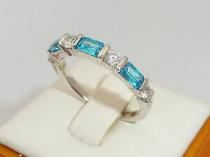Sterling-925-Solid-Silver-7-Stone-White-Sapphire-and-Aquamarine-Eternity-Ring