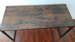 VASAGLE Bureau, Table, Poste de Travail, avec 8 Crochets, 140 x 60 x 75 cm