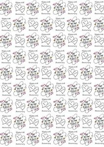 50th Any. 25th Personalised Anniversary Wrapping Paper with two tags 60th