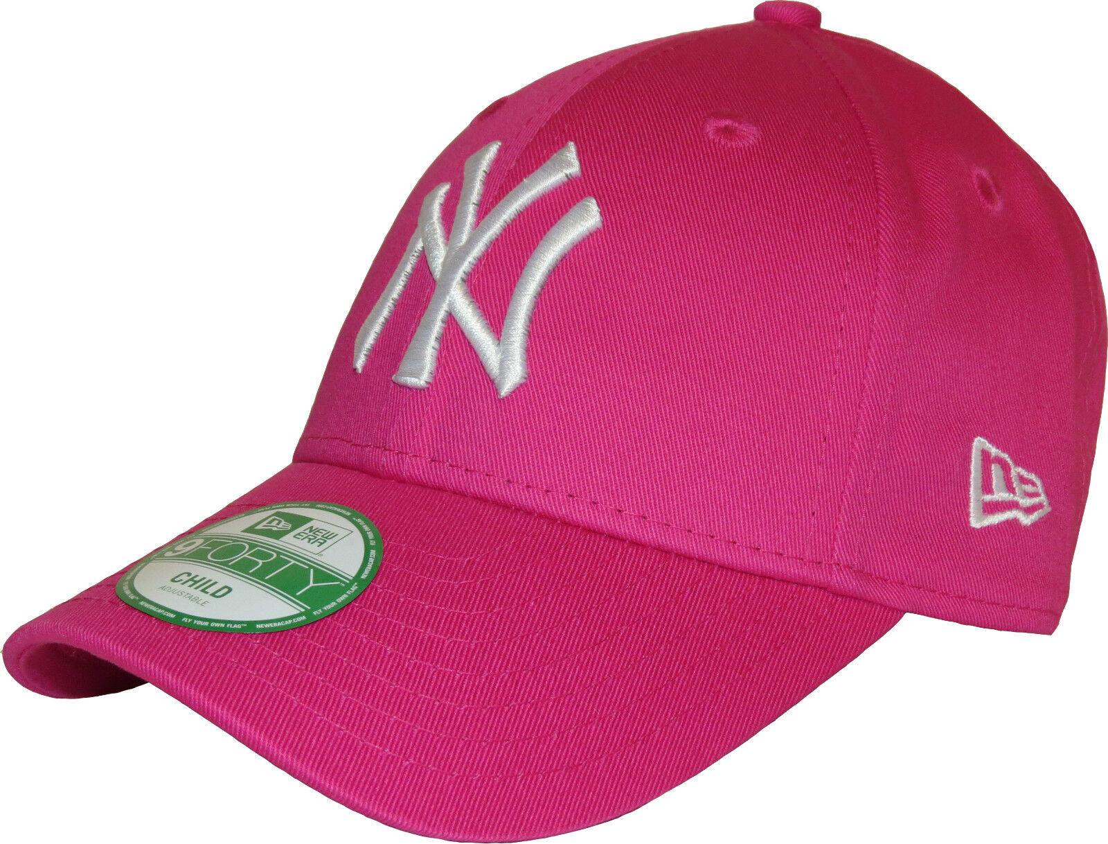 Era 9forty Girls NY Yankees Pink Adjustable Baseball Cap Youth (6 - 10  Years Old)  e71043ab303