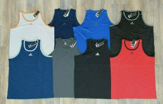 NWT Men/'s ADIDAS 3G Training TANK Shirt 2XL Heather Gray or Red