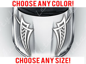 Tribal Flame Hood Decal,Racing Hood Stripes Universal  Multiple colors 18 x 10