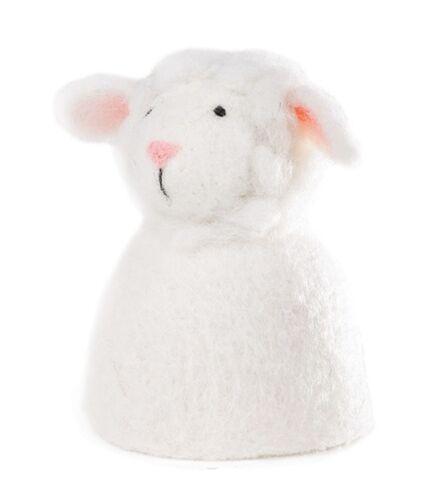Schaf weiß für den fröhlichen Frühstückstisch Eierwärmer aus Filz