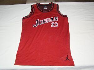 1ac1a54fb80182 Vintage Michael Jordan  23 Dri fit Nike Basketball Jersey Youth XL ...