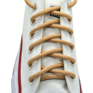 """54 inch One pairs Round Shoelaces Beige Color 27/"""",36/"""",45/"""""""