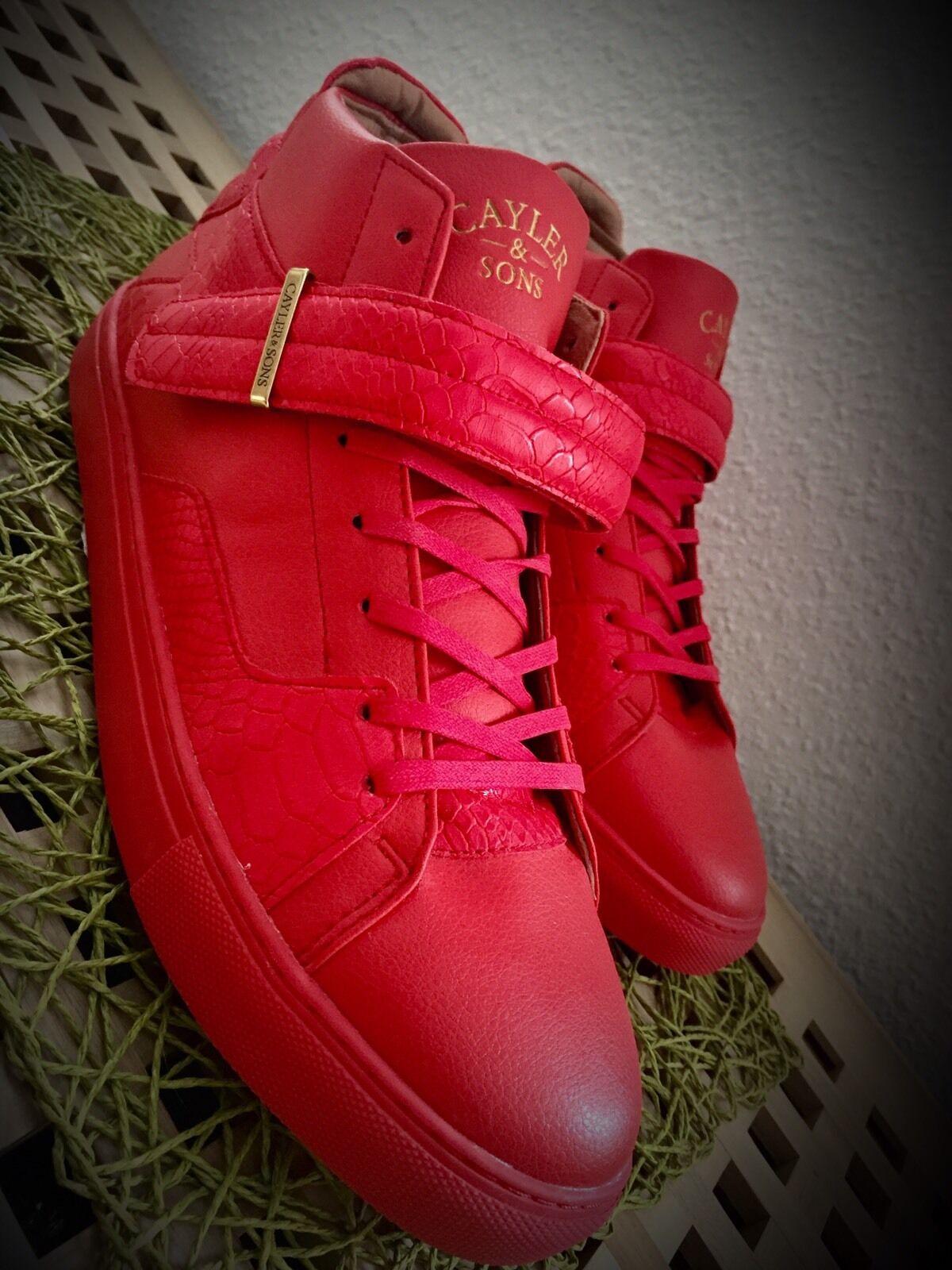 Cayler & Sons Sneaker Turnschuhe Schuhe Herren 47.5 47,5 47 Gold rot red NEU