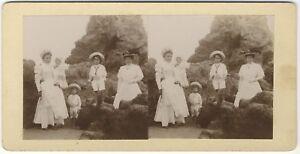 Francia-Famille-Modalita-Foto-Stereo-Amateur-Vintage-Citrato-c1900