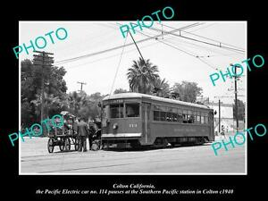 OLD-HISTORIC-PHOTO-OF-COLTON-CALIFORNIA-PACIFIC-ELECTRIC-RAILROAD-DEPOT-c1940