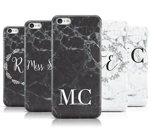 Monogram Marble Initials Mobile Phone Case Cover For Apple Iphone 5c Ebay