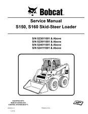 bobcat s150 s160 skid steer service repair manual 2011 rev 710 pg rh ebay com Bobcat S160 Parts Bobcat S160 Parts