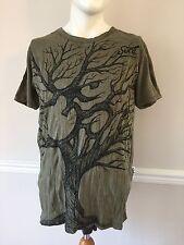 Men's Unisex One Size Large Sure Design Green Tree Of Life Yoga Ohm Thai T-Shirt