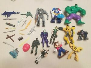 Mixed Action Figure and Accessories LOT Transformers Hulk Hasbro Weapons LOOK