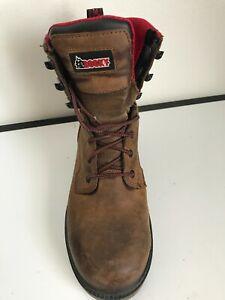 Rocky  RKK0160 Elements Shale Mens Brown Waterproof 8.5W Soft Toe Work Boots